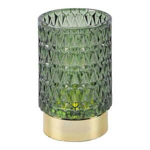 Zielona szklana lampka dekoracyjna LED PT LIVING Diamond obraz