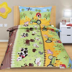 Dziecięca pościel bawełniana Junior Farma, 140 x 200 cm, 70 x 90 cm, 140 x 200 cm, 70 x 90 cm obraz