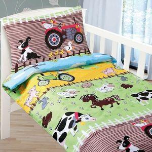 Dziecięca pościel bawełniana do łóżeczka Agáta Farma, 90 x 135 cm, 45 x 60 cm, 90 x 135 cm, 45 x 60 cm obraz
