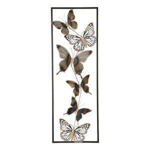 Metalowa dekoracja ścienna Mauro Ferretti Butterflies obraz
