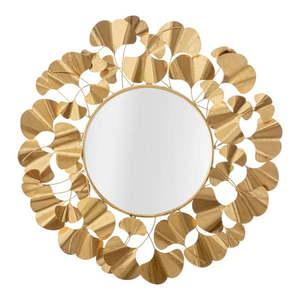 Lustro ścienne w kolorze złota Mauro Ferretti Leaf Gold, ø 81 cm obraz