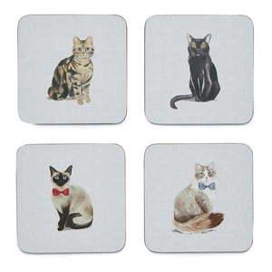 Zestaw 4 niebieskich podkładek Cooksmart ® Curious Cats obraz