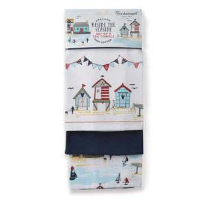 Zestaw 3 bawełnianych ścierek kuchennych Cooksmart ® Beside The Seaside obraz