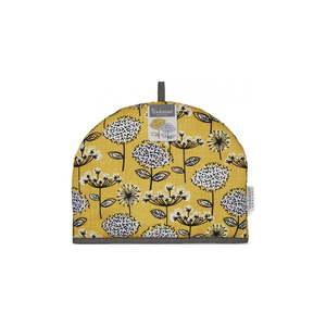 Żółty bawełniany ocieplacz na dzbanek Cooksmart ® Retro Meadow obraz
