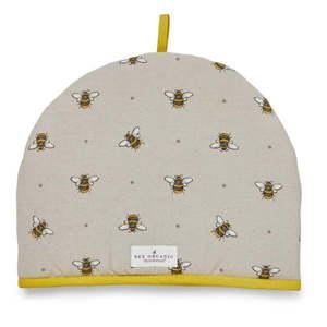 Beżowo-żółty bawełniany ocieplacz na dzbanek Cooksmart ® Bumble Bees obraz
