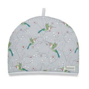 Szary bawełniany ocieplacz na dzbanek Cooksmart ® Hummingbirds obraz