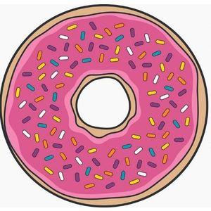 Okrągły ręcznik plażowy - Donut obraz