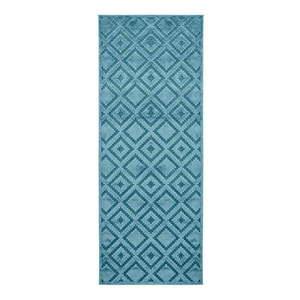 Niebieski chodnik z wiskozy Mint Rugs Iris, 80x250 cm obraz