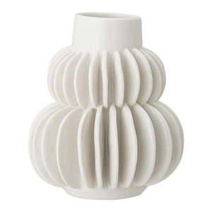 Biały wazon z kamionki Bloomingville Blossom obraz