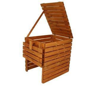 Kompostownik ogrodowy drewniany - 800l obraz