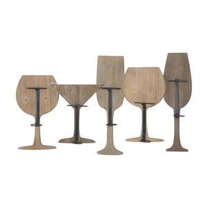 Wieszak ścienny na 5 butelek wina Mauro Ferretti obraz