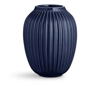 Ciemnoniebieski kamionkowy wazon Kähler Design Hammershoi, wys. 25 cm obraz