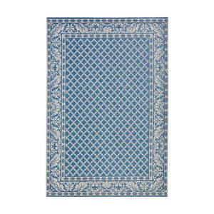 Niebiesko-kremowy dywan odpowiedni na zewnątrz Bougari Royal, 160x230 cm obraz