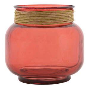 Różowy wazon ze szkła z recyklingu Mauro Ferretti Rope Florero obraz