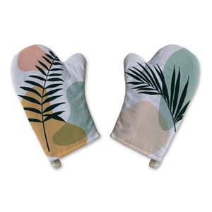 Zestaw 2 bawełnianych rękawic kuchennych Butter Kings Botanical Art obraz