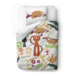 Bawełniana pościel dziecięca Mr. Little Fox Rain Forest Animals, 100x130 cm obraz