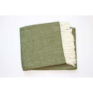 Zielony pled z domieszką bawełny Euromant Skyline, 140x180 cm obraz