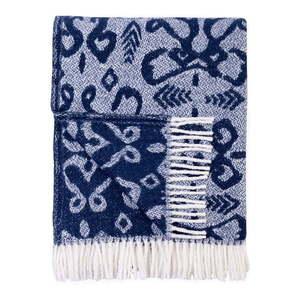 Niebieski pled z domieszką bawełny Euromant Mykonos, 140x180 cm obraz
