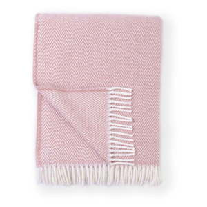 Różowy pled z domieszką bawełny Euromant Skyline, 140x180 cm obraz