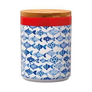 Pojemnik do przechowywania z bambusową pokrywką Remember Fish, 1, 25 l obraz