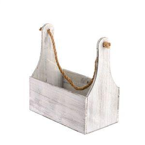 Skrzynka drewniana do zawieszenia, 27 x 34 x 15 cm obraz