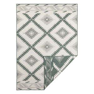 Zielono-kremowy dywan odpowiedni na zewnątrz Bougari Malibu, 150x80 cm obraz