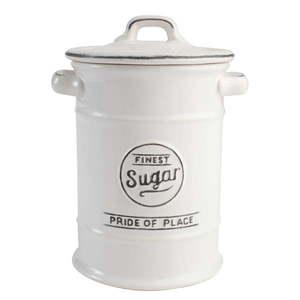 Biały pojemnik ceramiczny na cukier T&G Woodware Pride of Place obraz