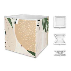 Beżowe pudełko z mikrowłókna Butter Kings Abstract Dark, 32 l obraz