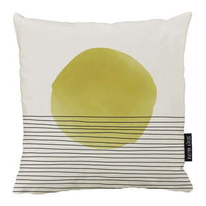 Beżowo-żółta bawełniana poduszka dekoracyjna Butter Kings Rising, 50x50 cm obraz