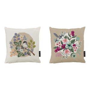 Zestaw 2 bawełnianych poduszek dekoracyjnych Butter Kings Great Tit, 50x50 cm obraz