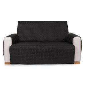 4Home Narzuta na kanapę 2-osobową Doubleface czarna/szara, 140 x 220 cm, 140 x 220 cm obraz