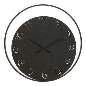 Czarny zegar ścienny Mauro Ferretti Circle, ⌀ 60 cm obraz