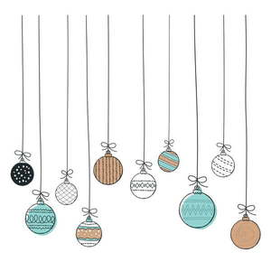 Naklejka ścienna Ambiance Christmas Balls, 40x40 cm obraz