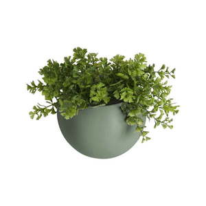 Matowa zielona ceramiczna doniczka ścienna PT LIVING Globe obraz