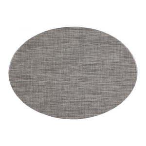 Szara mata stołowa Tiseco Home Studio Oval, 46x33 cm obraz
