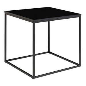 Czarny stolik ze stalową konstrukcją House Nordic Vita, 45x45 cm obraz