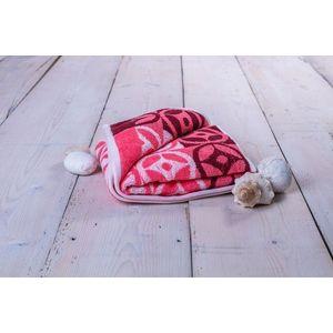 Ręcznik Kompas - 50 x 100 cm, różowy obraz