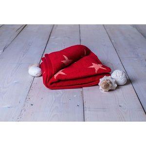 Ręcznik Stars - 70 x 140 cm, bordowy obraz
