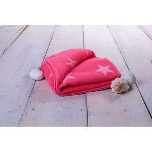 Ręcznik Stars - 70 x 140 cm, różowy obraz