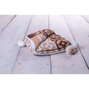 Ręcznik Kompas - 50 x 100 cm, brązowy obraz