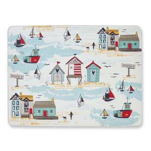 Zestaw 4 korkowych mat stołowych Cooksmart ® Beside The Seaside obraz