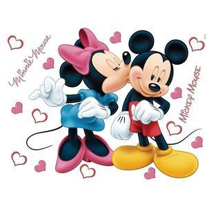 Dekoracja samoprzylepna Minnie i Mickey, różowa, 42, 5 x 65 cm obraz