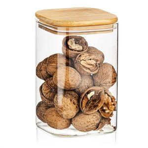 4Home Szklany pojemnik do żywności z wiekiem Bamboo, 950 ml obraz