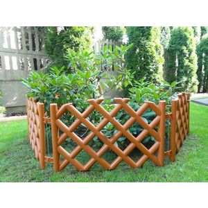 Płotek ogrodowy, kratka terakota obraz