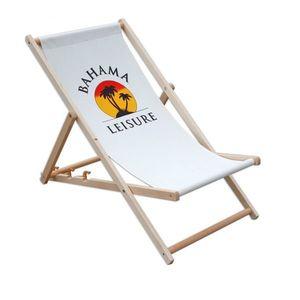 Klasyczny drewniany leżak Bahama obraz