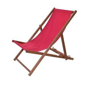 Drewniany leżak ogrodowy Bahama - bejcowane, czerwone obraz