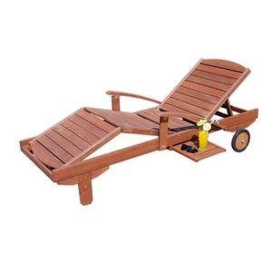 Ogrodowy drewniany leżak MELAS FSC obraz