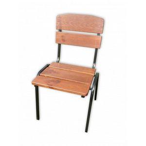 Ogrodowe krzesło drewniane do układania w stos WEEKEND FSC obraz