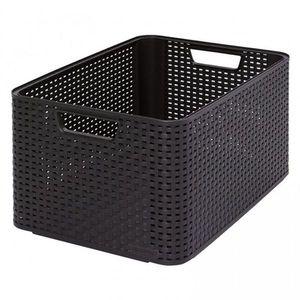 Plastikowe pudełko do przechowywania STYLE BOX - L- brązowy obraz