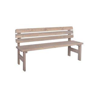 Drewniana ława ogrodowa VIKING - szara - 150 cm obraz